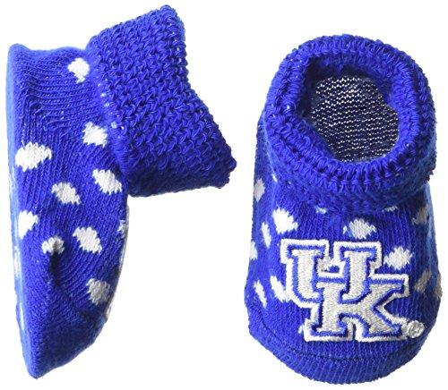 Wildcats Kentucky Blue New (Two Feet Ahead NCAA Kentucky Wildcats Infant Polka Dot Gift Box Booties, New Born, Royal/White)