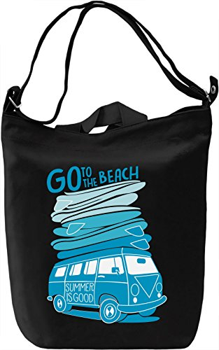 Go to the beach Borsa Giornaliera Canvas Canvas Day Bag| 100% Premium Cotton Canvas| DTG Printing|