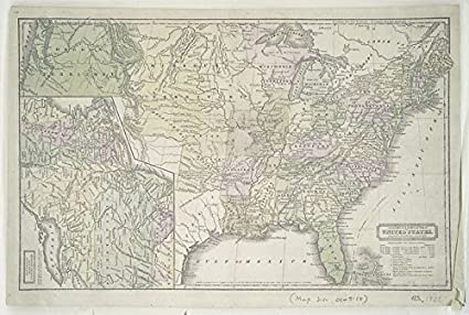 Amazon.com: Historic 1833 Map | Geographical & statistical map of ...
