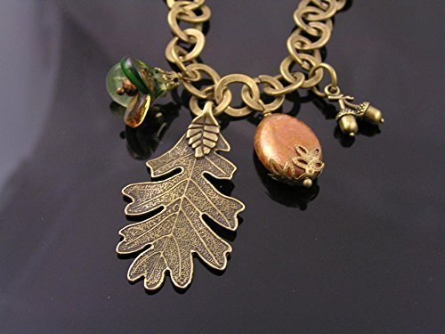 Oak Leaf Beads Charms - 3