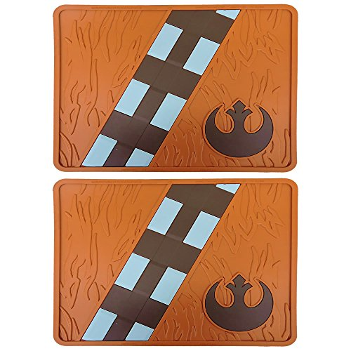 Licensed Star Wars Chewbacca Two Rubber Rear Floor Mats Universal New Car Truck -