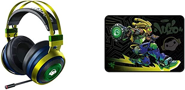 Razer Nari Ultimate Wireless Gaming Headset + Goliathus Speed Overwatch Lucio Edition Bundle