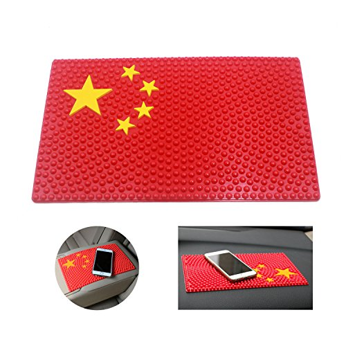 T&B Country Flag Dashboard Pad Anti-Slip Mat Non-Slip Sticky Mat - Holds Mobile Phone,Sunglasses,Keys and more - Chino Sunglasses