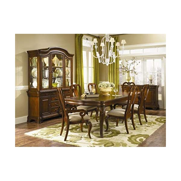 Wood Dining Chair with Fabric Seating - Dining Chair with Queen Anne Back - Set of 2 - Rich Auburn