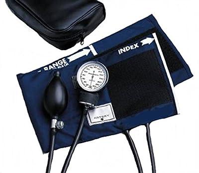 McKesson 01-775-11ANGM Standard Pocket Style Hand Held Aneroid Sphygmomanometer, Adult Cuff Size, Navy Blue