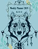 """Books : Weekly Planner 2019 8.5 x 11: Beautiful Dog Cover, Weekly View Planners, 12 Months Calendar, schedule planner,12 Month,January 2019 to December 2019 242 pages 8.5"""" x 11"""""""