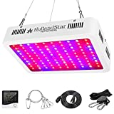 1000 Watt Led Grow Light, Full Spectrum Double Switch Grow Led Lights for Indoor Hydroponic Plants,with Daisy Chain,Temperature and Humidity Monitor, Adjustable Rope