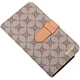 RAYTOP® New Design Luxury Classic Brown GG Logo Leather Wallet Cases Flip Covers for Samsung Galaxy Note 2 Note2...