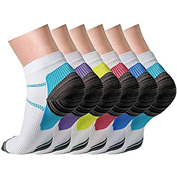 Compression Socks (6 Pairs),15-20 mmHg is Best Athletic & Medical for Men & Women, Running, Flight, Travel, Nurses - Boost Performance, Blood Circulation ...