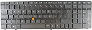 New Keyboard for HP EliteBook 8560w 8570w 690648-001, 690647-001, 652682-001, 652683-001, 703149-001 with Backlit Pointer