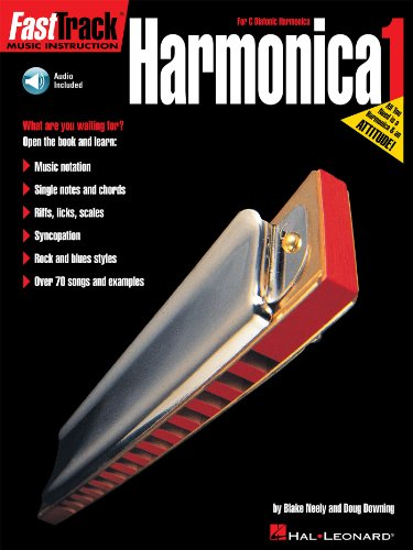 Harmonica Method Book - FastTrack Harmonica Method - Book 1: for Diatonic Harmonica (Fast Track Music Instruction)