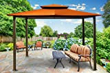 Paragon-Outdoor GZ584ER Backyard Structure Canopy Top, 10′ x 12′, Rust For Sale