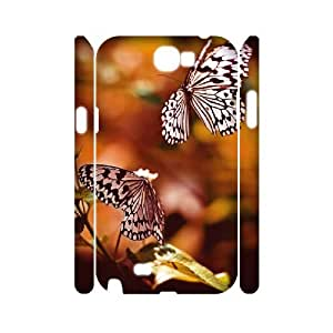 Samsung Galaxy Note 2 N7100 3D Customized Phone Back Case with Butterfly Image