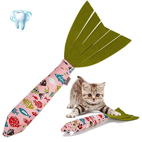 Vaburs CatnipToys Cat Toy, Cat Chewing Toy Fish Shape Doll CatnipChews CatnipTeeth GrindingToys Pets PillowforCats Pet Supplies New