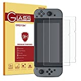 OMOTON Nintendo Switch Screen Protector [2 Pack] – Updated Version Full Coverage Tempered Glass Screen Protector for Nintendo Switch 2017 with [9H Hardness] [Premium Clarity] [Bubble Free]