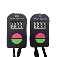 Digital kleiner Golf-Sport-Zähler, Handzähler, elektronischer addieren / subtrahieren manuellen Clicker, 2 Stücke