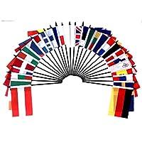 "European Union (EU) World Flag SET-28 Polyester 4""x6"" Flags, One Flag for Each Country in The European Union 4x6 Miniature Desk & Table Flags, Small Mini Stick Flags"