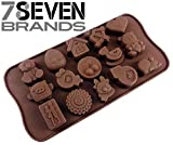 78Seven Silicone Molds 15 PIECE Children's Character Silicone Mold Tray. SUPER VALUE. Great Gift. Get It NOW!