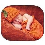 Auberllus Newborn Baby Photography Props Boy Girl Crochet Knit Halloween Cute Pumpkin Sleeping Bag Photo Shoot Outfits