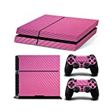 Gam3Gear Vinyl Sticker Pattern Decals Skin for PS4 Console & Controller- Pink Carbon Fiber For Sale
