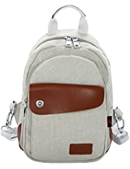 Hiigoo Small Handbags Backpack Casual Canvas Shoulder Bags Multi-functional Daypack