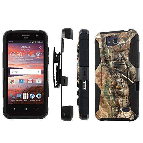 ZTE Overture 2 [Z812]/ Maven / Fanfare Case, [NakedShield] [Black/Black] Heavy Duty Holster Armor Tough Case - [Hunter Camouflage] for ZTE Overture 2 [Z812] / Maven / Fanfare (Mercury Maven Ii compare prices)