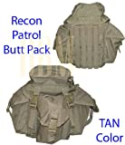 Military Molle Tactical Recon Patrol Butt Pack Bag Tan