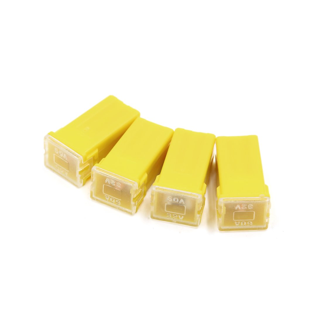 uxcell Vehicle Car Plastic Shell Straight Female Terminal Push in Blade Cartridge PAL Fuse 40Amp 32V Green 5pcs a14053000ux0265