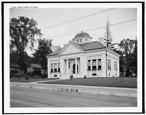 Photo: Public Library,buildings,Lee,Massachusetts,MA,Detroit Publishing - Ma Lee Shopping