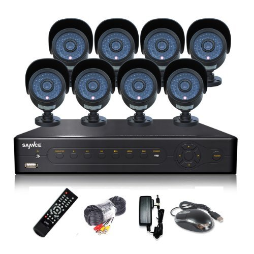 Annke 8-Channel AHD 720P CCTV Security DVR with (8) 1.0 MegaPixels High Resolution Outdoor Fixed CCTV Cameras, NO Hard Drive Included