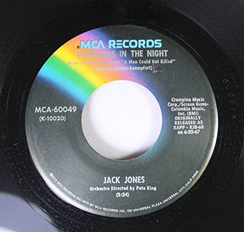 Jack Jones 45 RPM Strangers In The Night / The Impossible Dream