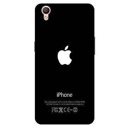 check out c2a8f 4ad17 Artage Oppo A37f, Oppo A37 Back Cover Case Black Apple: Amazon.in ...