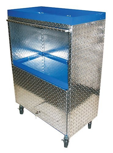 Rugged Buddy BDB36 Blue Diamond 30-Inch Long by 16-Inch Wide by 42-Inch High Storage Cart with 4 Casters and 2 Hideaway Lockable Doors by Target Precision