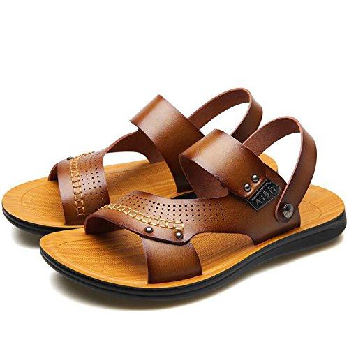 para Libre Abierta Hombres Confortables Aire Sandalias Sandalias Portátiles Verano De Al Brown Usadas Antideslizantes Puntera Deportes dTqAwf