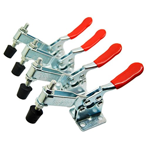 4PCS Hand Tool Toggle Clamp 201A Antislip Red Plast Horizontal Clamp 201-A
