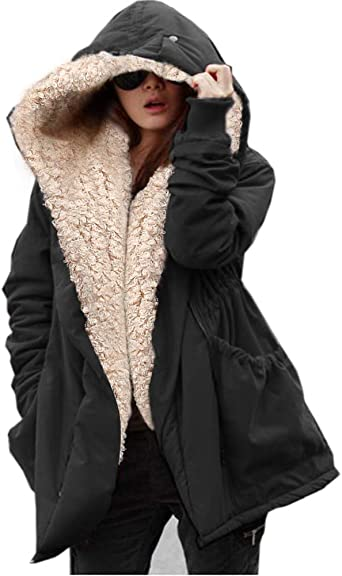Plus Size Coat With Big Fur Hood: Buy Plus Size Coat With