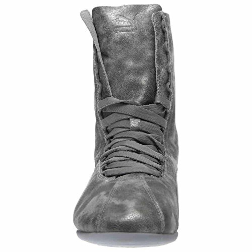PUMA Damen Eskiva Hi Metallic High-Top Fashion Sneaker Silber