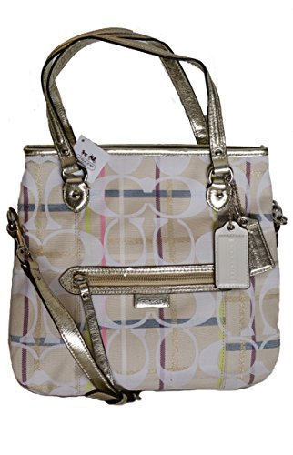 Coach Daisy Signature Tattersall Satchel - Multi - Coach Handbags Multicolor