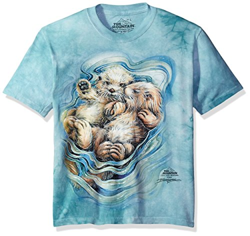 The Mountain A Love Like No Otter Child T-Shirt, Green, Large (Free Valentine Ca)