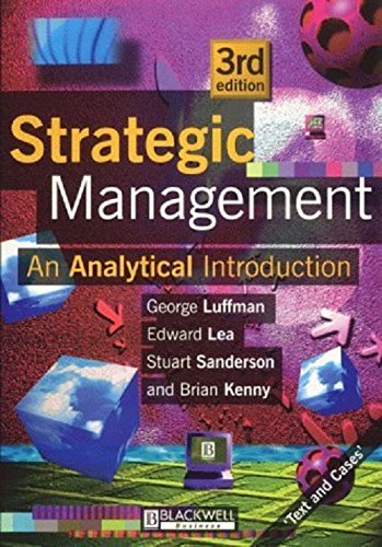 Strategic Management: An Analytical Introduction