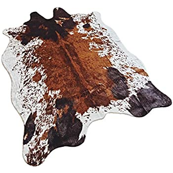 Amazon Com Jaye Large Size Faux Fur Cow Print Rug 4 9x6 6