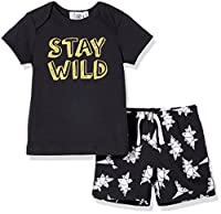 Silly Apples (001) Baby Boy 2-Piece Short-Sleeve T-Shirt and Short Outfit Set (12M)