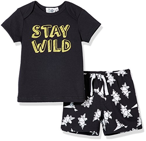 Silly Apples Baby Boy 2-Piece Short-Sleeve T-Shirt and Short Outfit Set