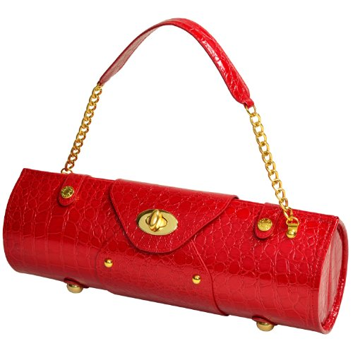Picnic at Ascot Wine Purse - Red Croc