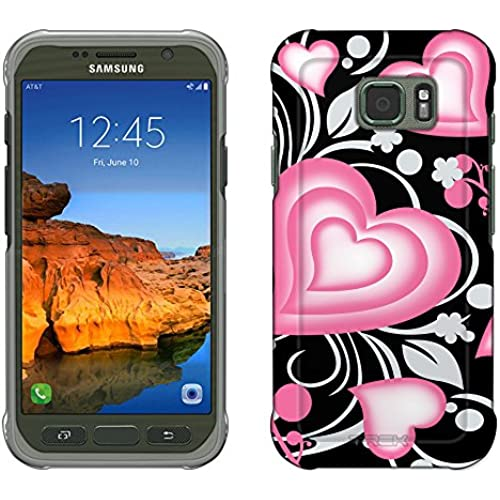 Samsung Galaxy S7 Active Case, Snap On Cover by Trek Brave Heart Pink on Black Slim Case Sales
