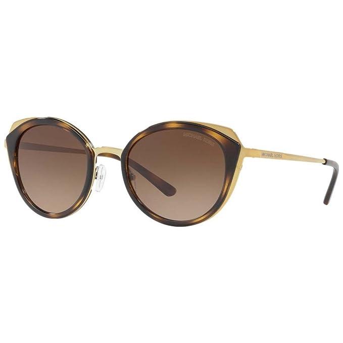 Michael Kors 0MK1029, Gafas de Sol para Mujer, Shiny Pale Gold/Dark Tort