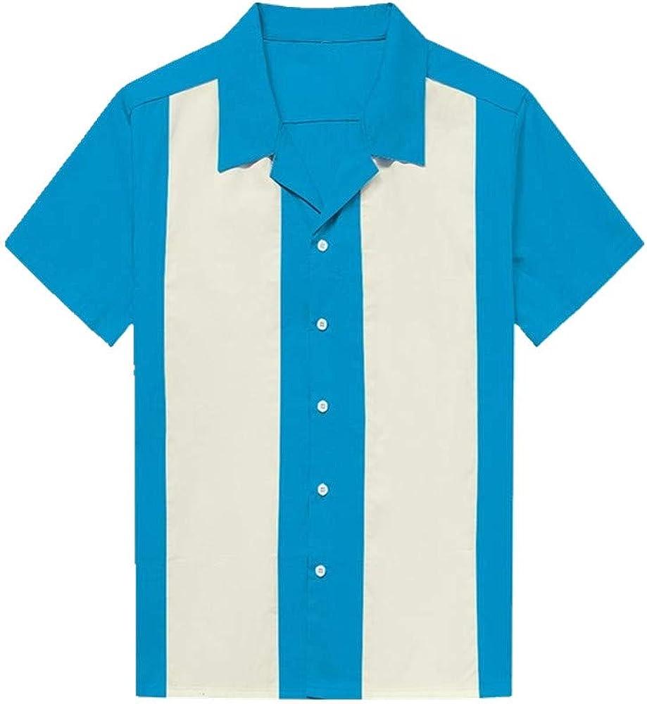 U/A Camisa De Hombre De Rayas Verticales Casual Botones De ...