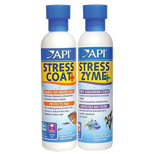 API STRESS COAT Aquarium Water Conditioner & API STRESS ZYME