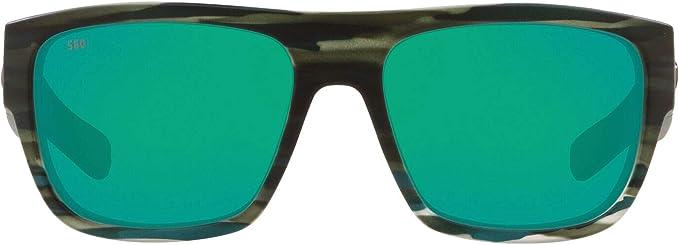 Costa del Mar Sampan Matte Black Green Mirror 580g