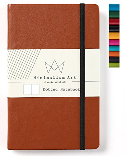 Journal Leather Classic - Minimalism Art | Classic Notebook Journal, Size: 5